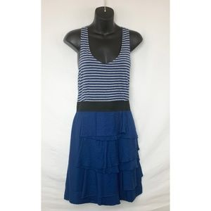 ELLE Navy Blue & Gray Racer Back Tank Dress
